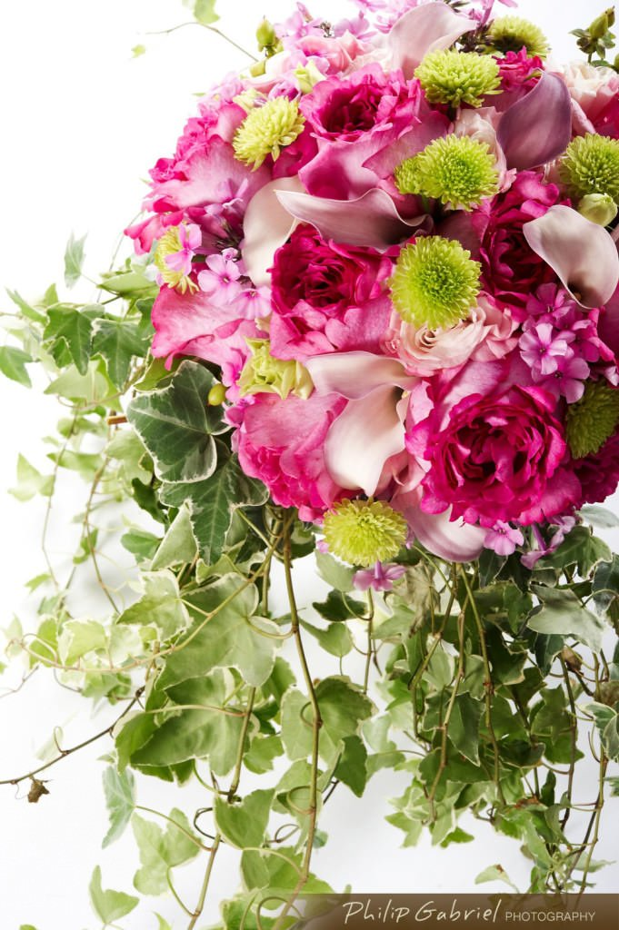 Products Floral Flower Arrangement Pink for Bridal Photographed by Philip Gabriel Photography