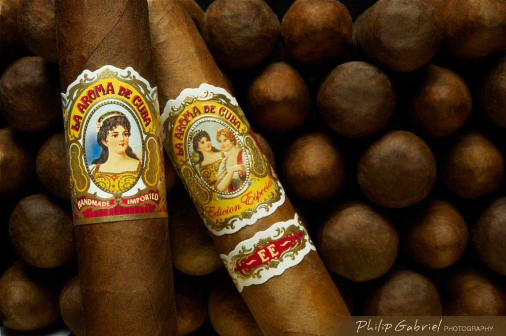 Advertising Products La Aroma de Cuba Cigars Photographed by Philip Gabriel Photography