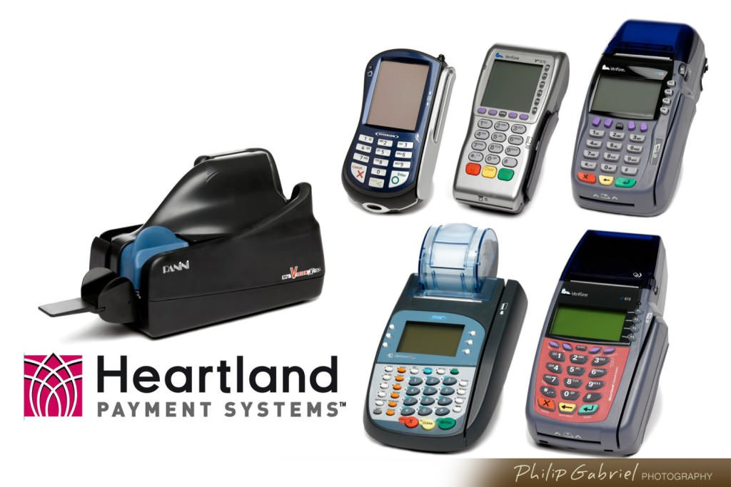 Products Advertising Heartland Payment Systems for Card Electronic Payment Photographed by Philip Gabriel Photography