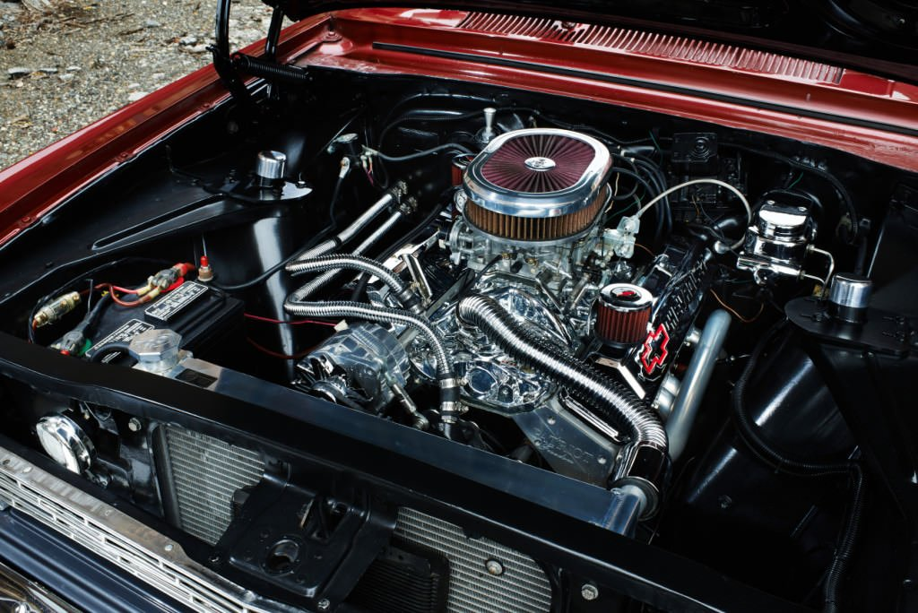 Classic Car Engine Red Photographed by Philip Gabriel Photography