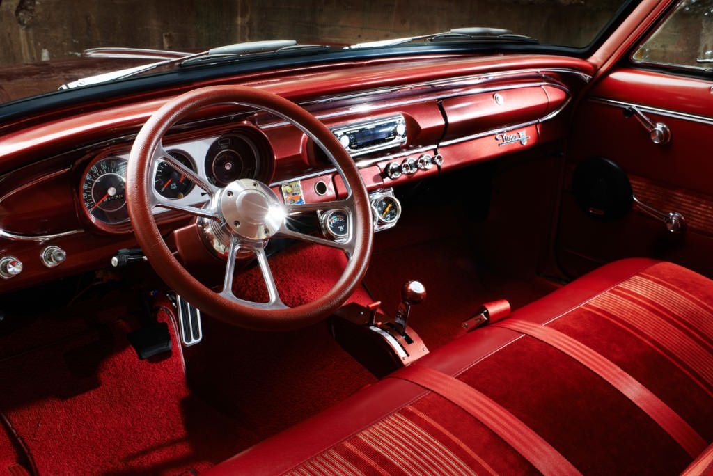 Classic Car Interior Red Photographed by Philip Gabriel Photography