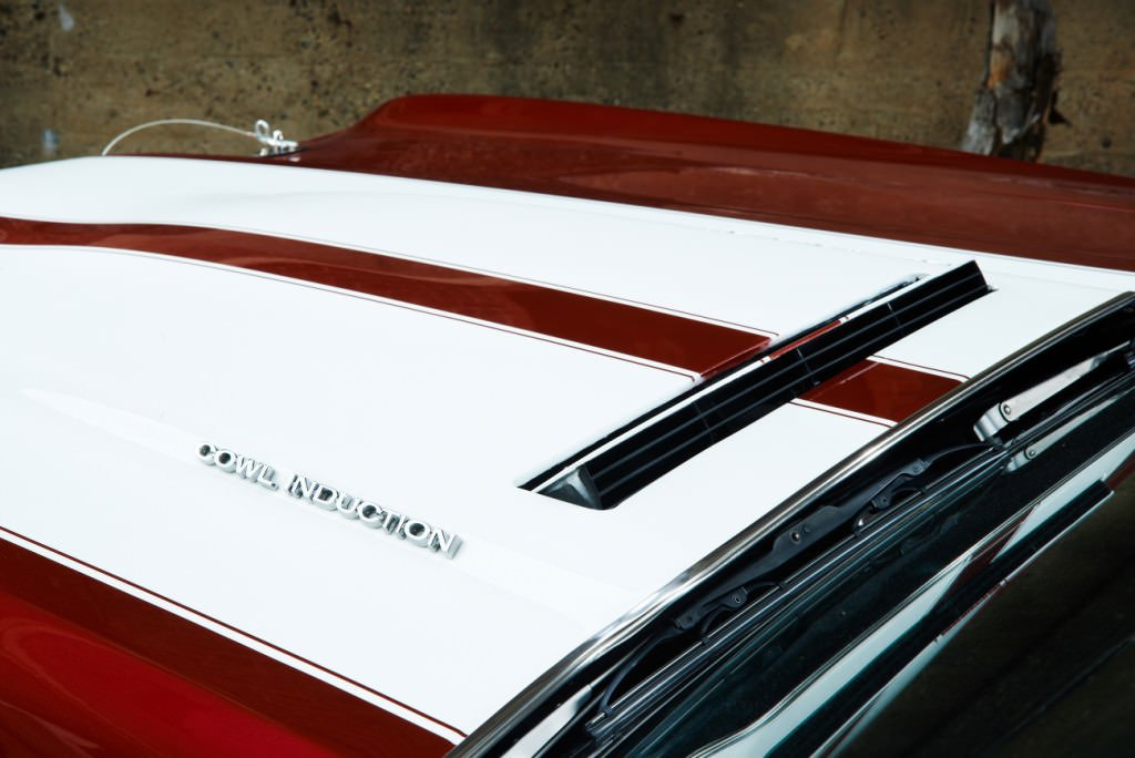 Classic Car Red and White hood Photographed by Philip Gabriel Photography