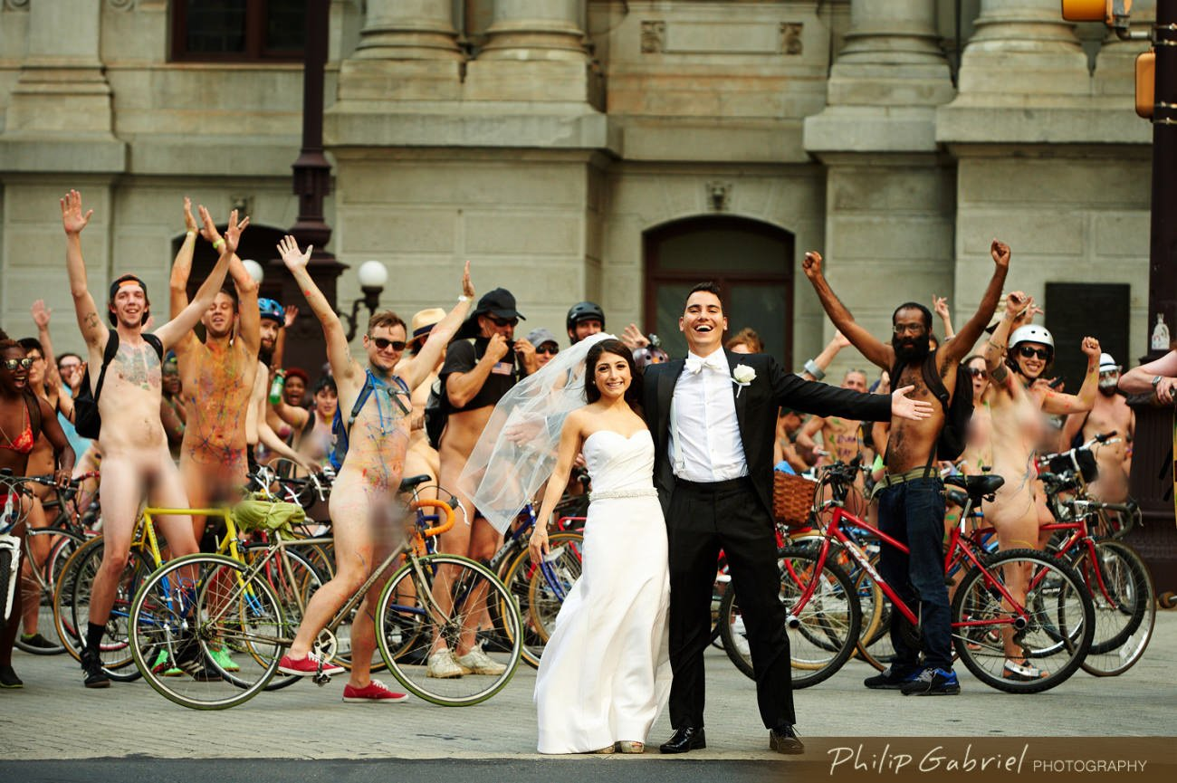 Philadelphia Photobomb Wedding