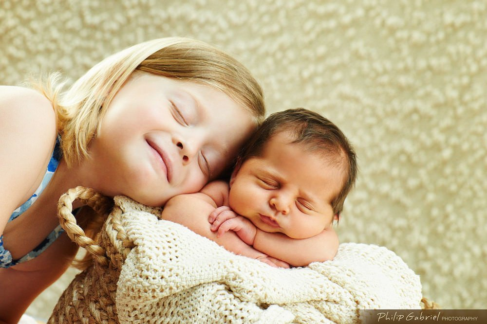 Newborn Baby and Sibling Photography