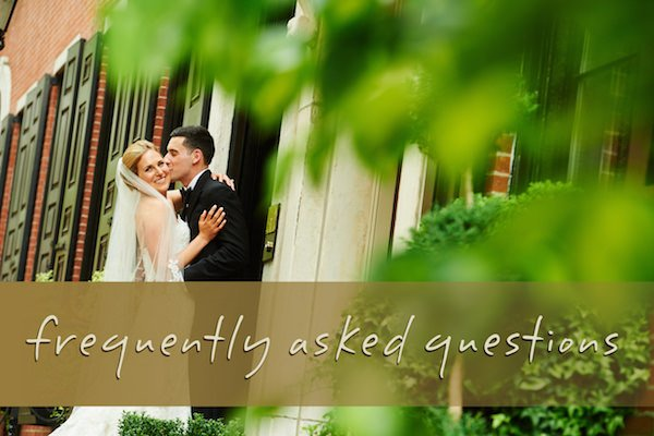Philadelphia Wedding Frequently Asked Questions