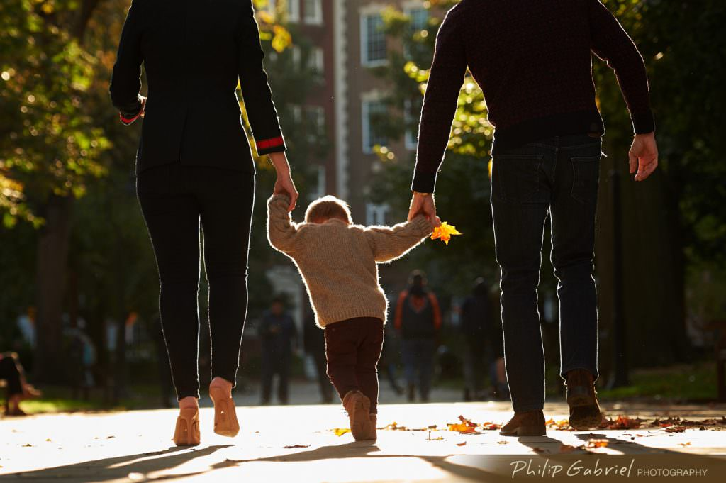 Family session in Washington Square Park Philadelphia