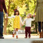 Family session in Washington Square Park Philadelphia