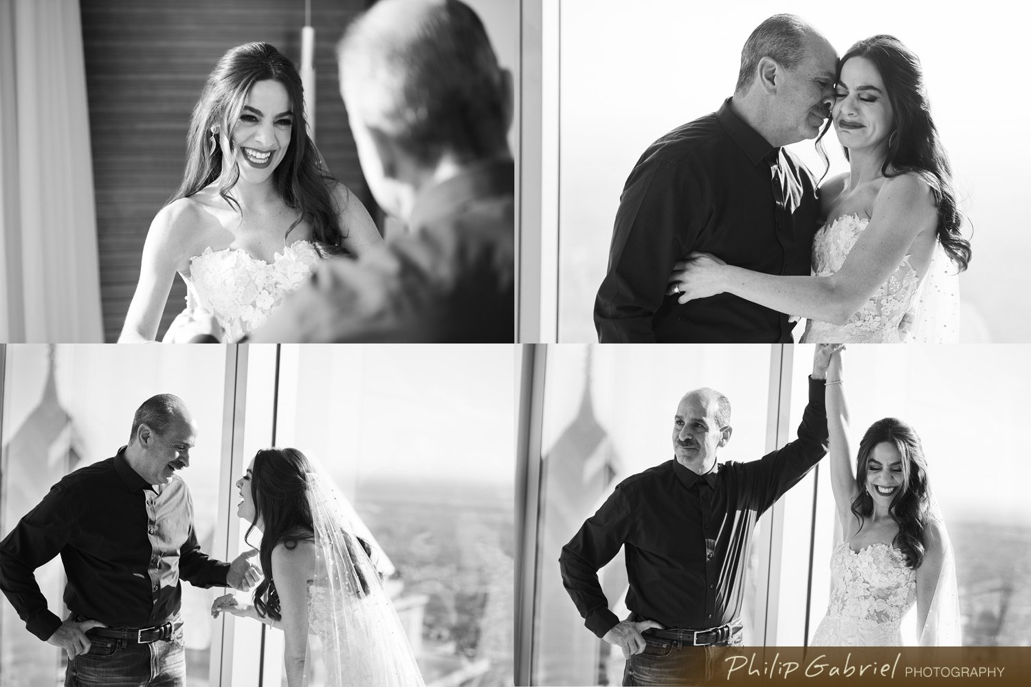 Wedding first looks with dad
