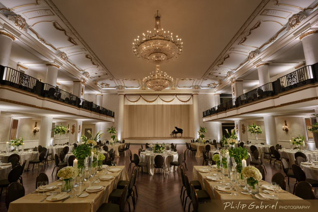 Architecture Interior Hyatt at the Bellevue Hotel Ballroom for Wedding Philadelphia Pennsylvania Photographed by Philip Gabriel Photography