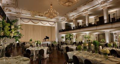 Architecture Interior Hyatt at the Bellevue Ballroom for Wedding in Philadelphia Pennsylvania Photographed by Philip Gabriel Photography