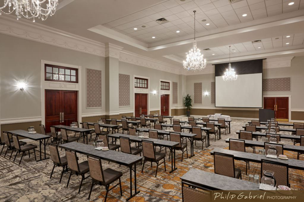 Architecture Interior Hotel Corporate Meeting Room at Drexelbrook in Drexel Hill Pennsylvania Photographed by Philip Gabriel Photography