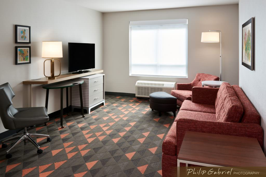 Architecture Interior Holiday Inn Hotel Guest Room Drexelbrook Drexel Hill Pennsylvania Photographed by Philip Gabriel Photography