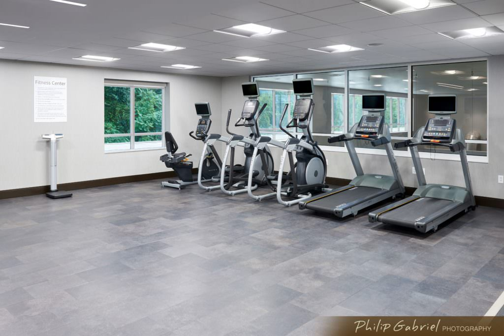 Architecture Interior Holiday Inn Hotel Gym Drexelbrook Drexel Hill Pennsylvania Photographed by Philip Gabriel Photography