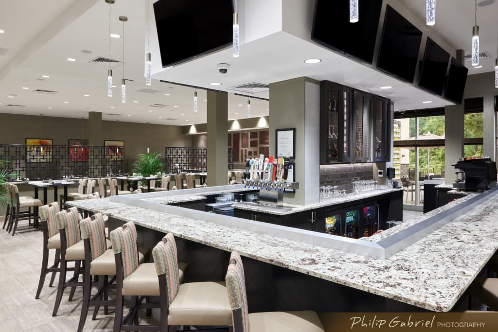 Architecture Interior Holiday Inn Hotel Bar Drexelbrook Drexel Hill Pennsylvania Photographed by Philip Gabriel Photography