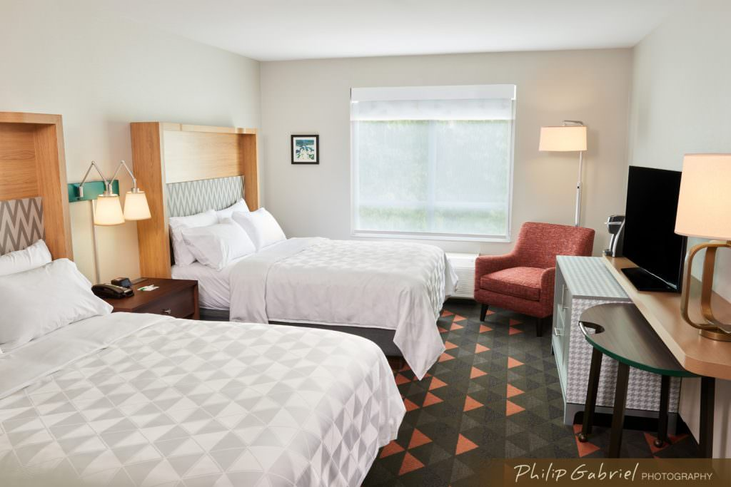 Architecture Interior Holiday Inn Hotel Guest Room Two Beds Drexelbrook Drexel Hill Pennsylvania Photographed by Philip Gabriel Photography