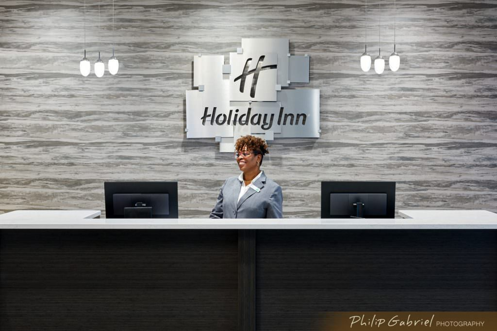 Architecture Interior Front Desk Holiday Inn Drexelbrook Drexel Hill Pennsylvania Photographed by Philip Gabriel Photography