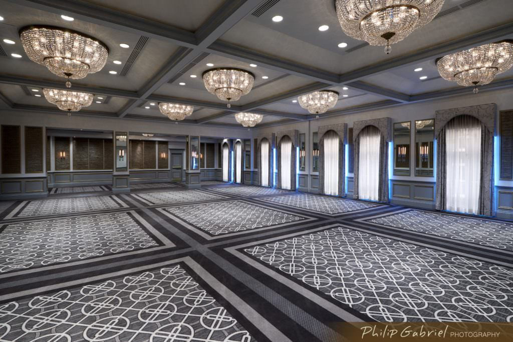 Architecture Interior The Rittenhouse Hotel Ballroom Renovation Philadelphia Pennsylvania Photographed by Philip Gabriel Photography