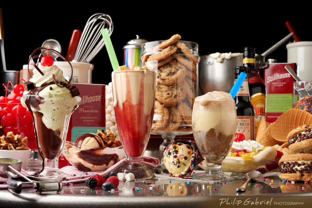 Food Ice Cream Sundae Milk Shake Cookies Desserts Stillhouse Whiskey Styled Photographed by Philip Gabriel Photography