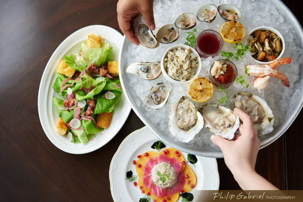 Restaurant Lifestyle Brunch Oysters and Salad Styled Photographed by Philip Gabriel Photography