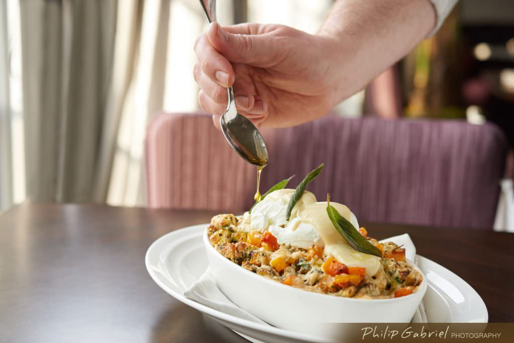 Restaurant Lifestyle Chef Dressing Casserole Styled Photographed by Philip Gabriel Photography