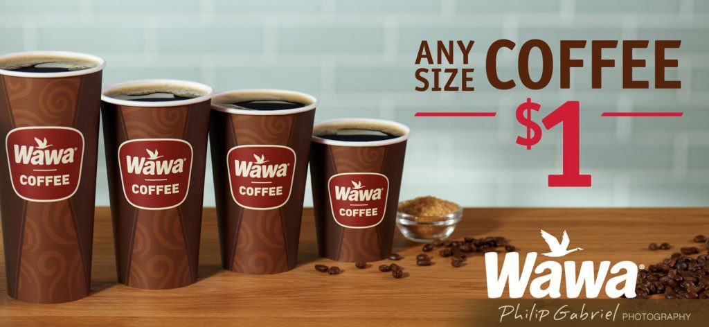 Drinks Wawa Any Size Coffee Promo Advertisement Styled Photographed by Philip Gabriel Photography