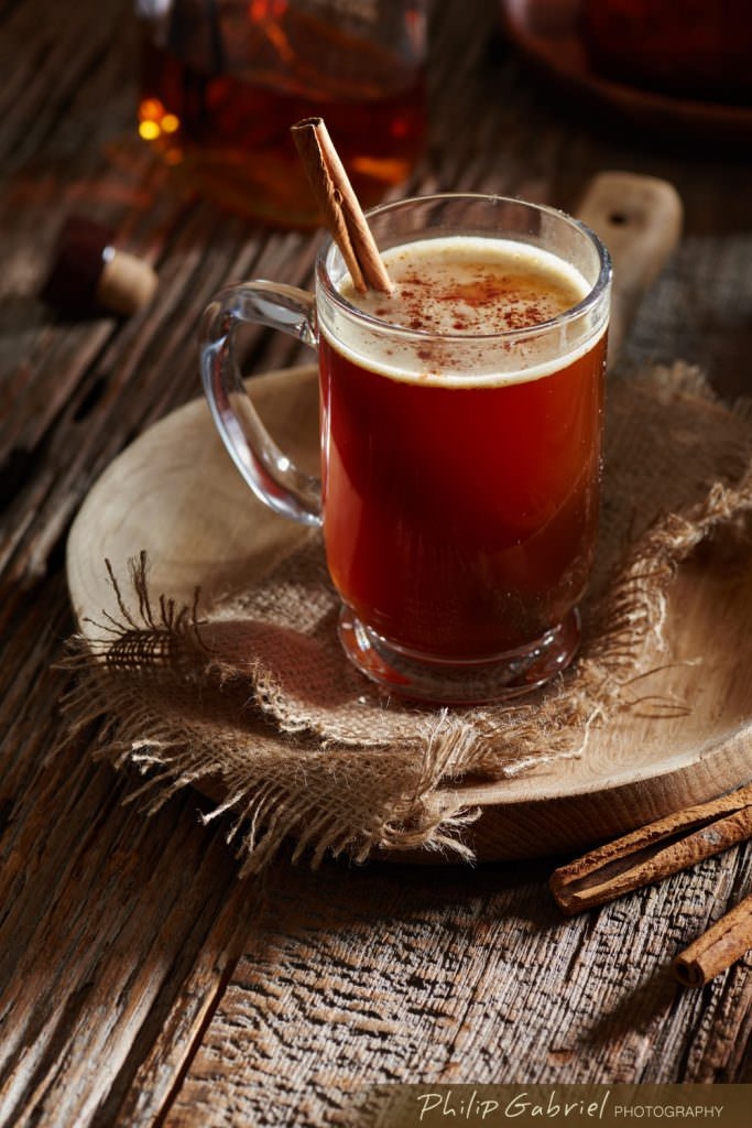 Drinks Cinnamon Mulled Cider styled Photographed by Philip Gabriel Photography