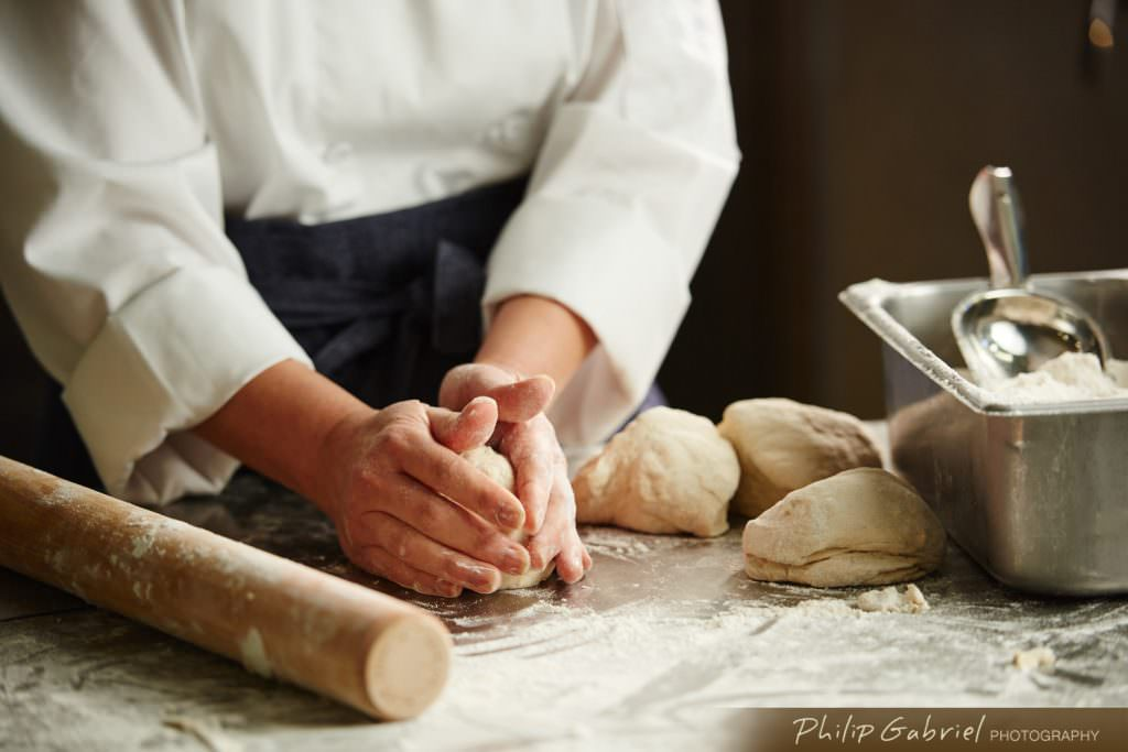 Lifestyle Chef Making Bread Dough Photographed by Philip Gabriel Photography