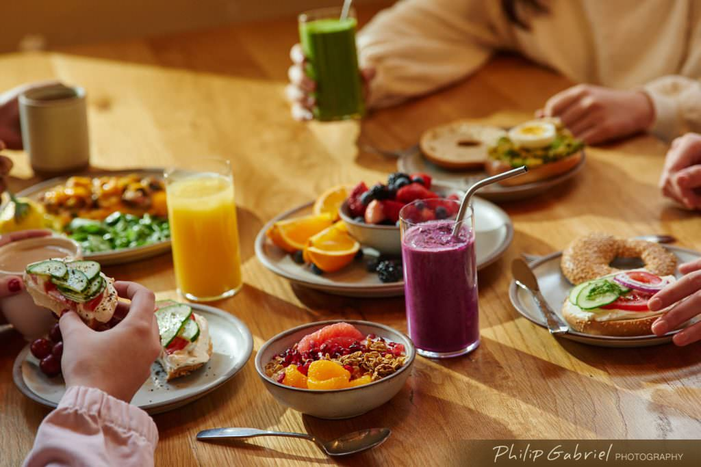 Lifestyle Breakfast Dining Styled Photographed by Philip Gabriel Photography