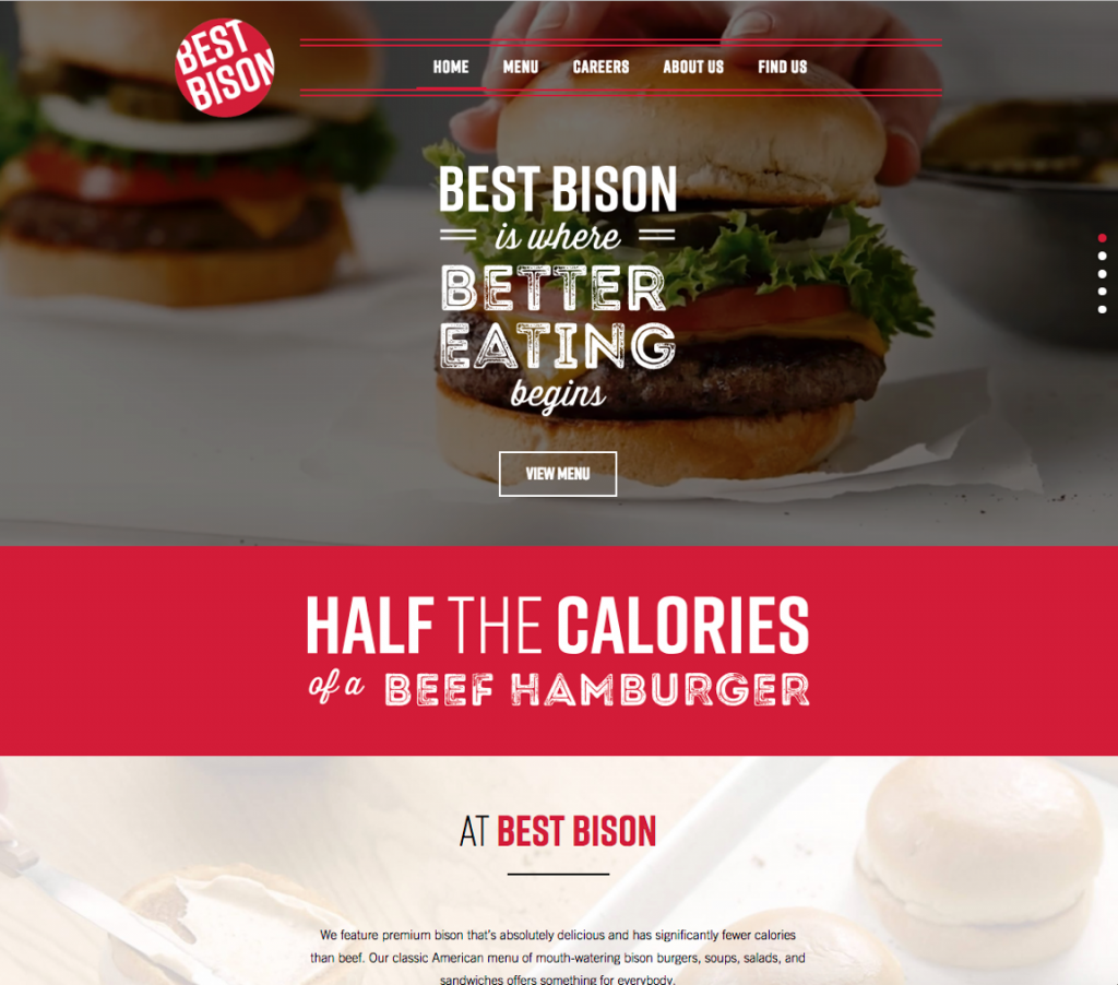 Food Best Bison Promotion Website Restaurant Burgers styled Photographed by Philip Gabriel Photography