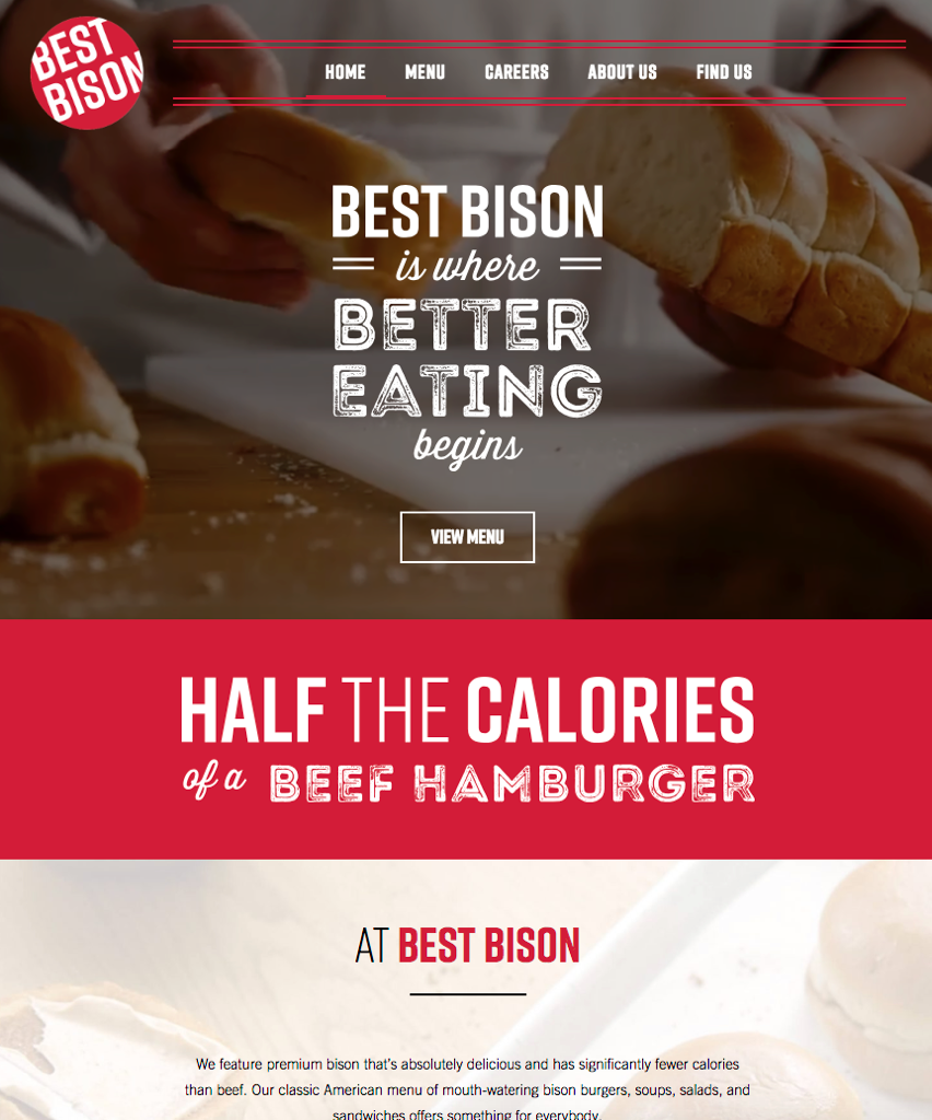 Restaurant Best Bison Website Promotional Styled Photographed by Philip Gabriel Photography