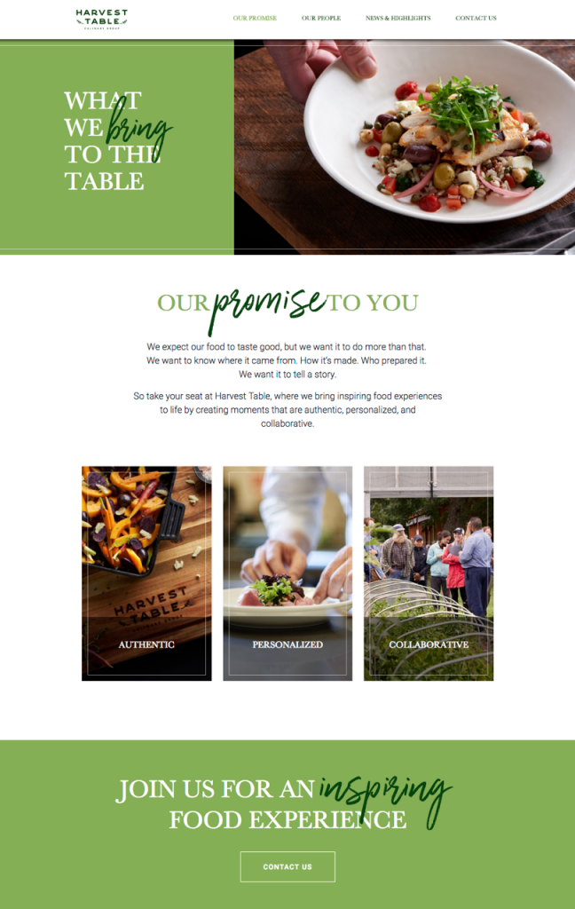 Harvest Table Website Lifestyle Photographed by Philip Gabriel Photography