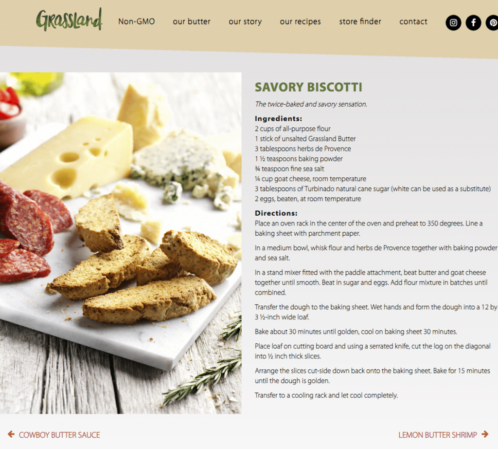 Grassland Savory Biscotti Food Recipe for Website styled Photographed by Philip Gabriel Photography