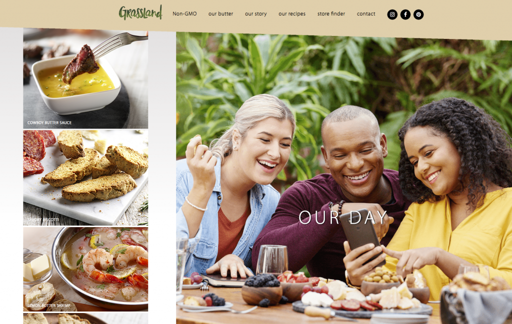 Grassland Website Lifestyle Outdoor Breakfast Models Photographed by Philip Gabriel Photography