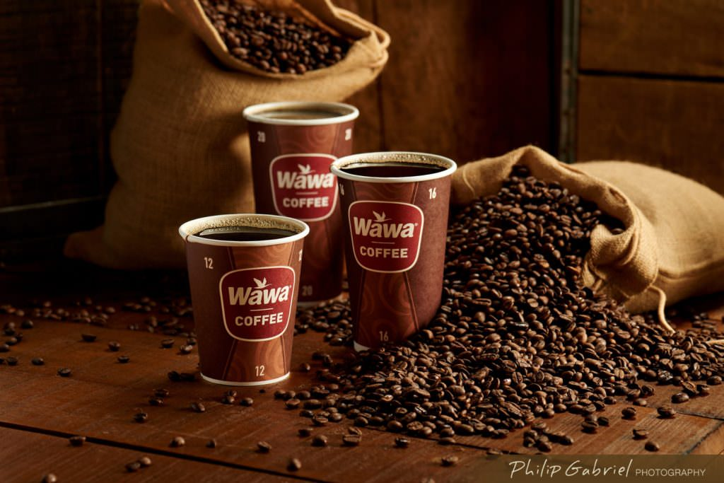 Drinks Wawa Coffee Cups with Beans styled Photographed by Philip Gabriel Photography