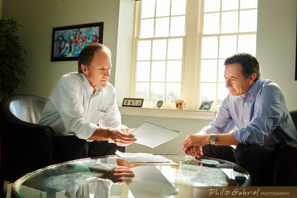 Two men meeting office space Photographed by Philip Gabriel Photography