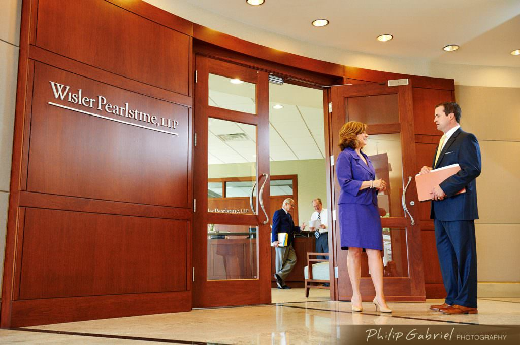 Law Office Wisler Pearlstine entryway Photographed by Philip Gabriel Photography