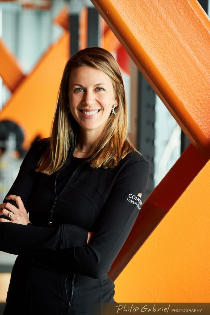 Headshot Comcast Fitness Center woman trainer Photographed by Philip Gabriel Photography