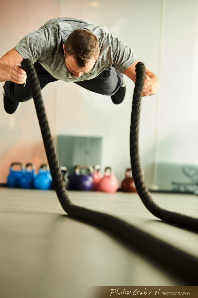 Fitness Gym ropes trainer Photographed by Philip Gabriel Photography