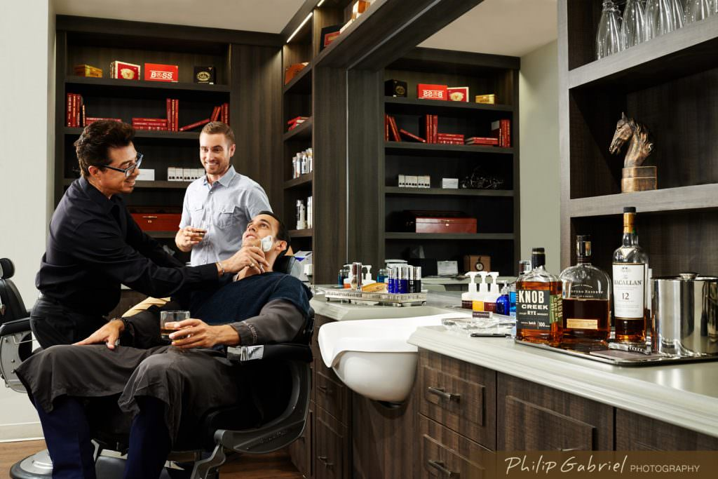 Lifestyle Barber Shop Private Club Photographed by Philip Gabriel Photography