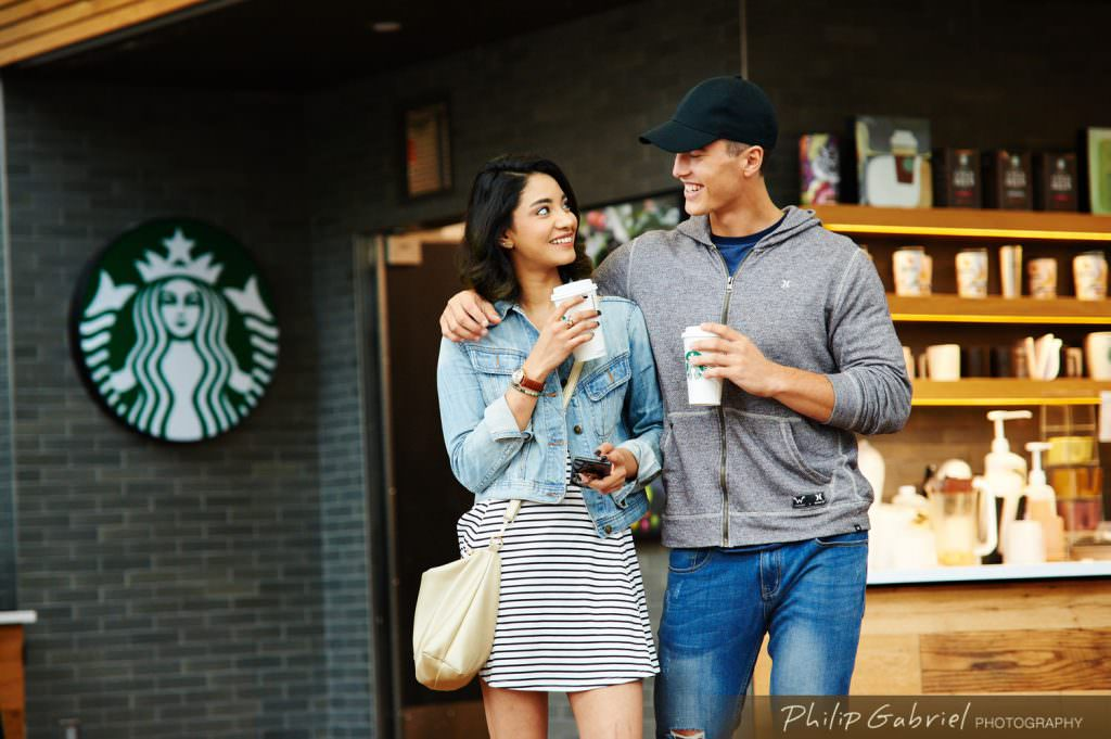 Lifestyle Indoor Dining Starbucks Campus Life Photographed by Philip Gabriel Photography