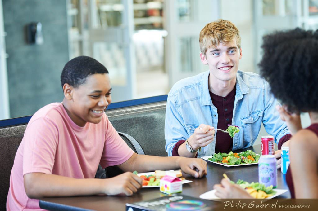 Lifestyle K-12 School Dining Facility Photographed by Philip Gabriel Photography