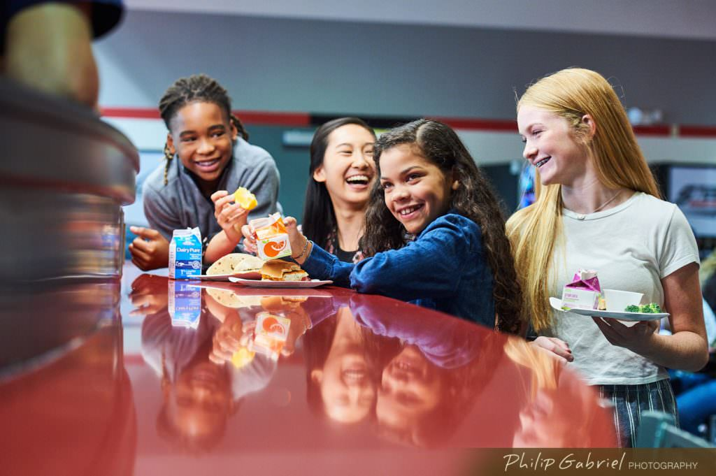 Lifestyle K-12 Dining facility School Photographed by Philip Gabriel Photography