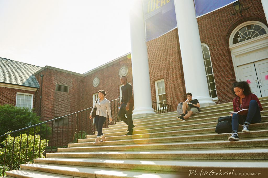 Lifestyle Campus Life outdoor steps college university Photographed by Philip Gabriel Photography