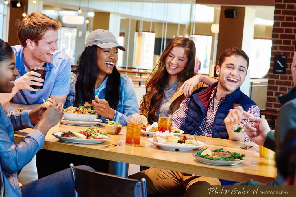 Lifestyle Campus Life Dining Facility College University Photographed by Philip Gabriel Photography