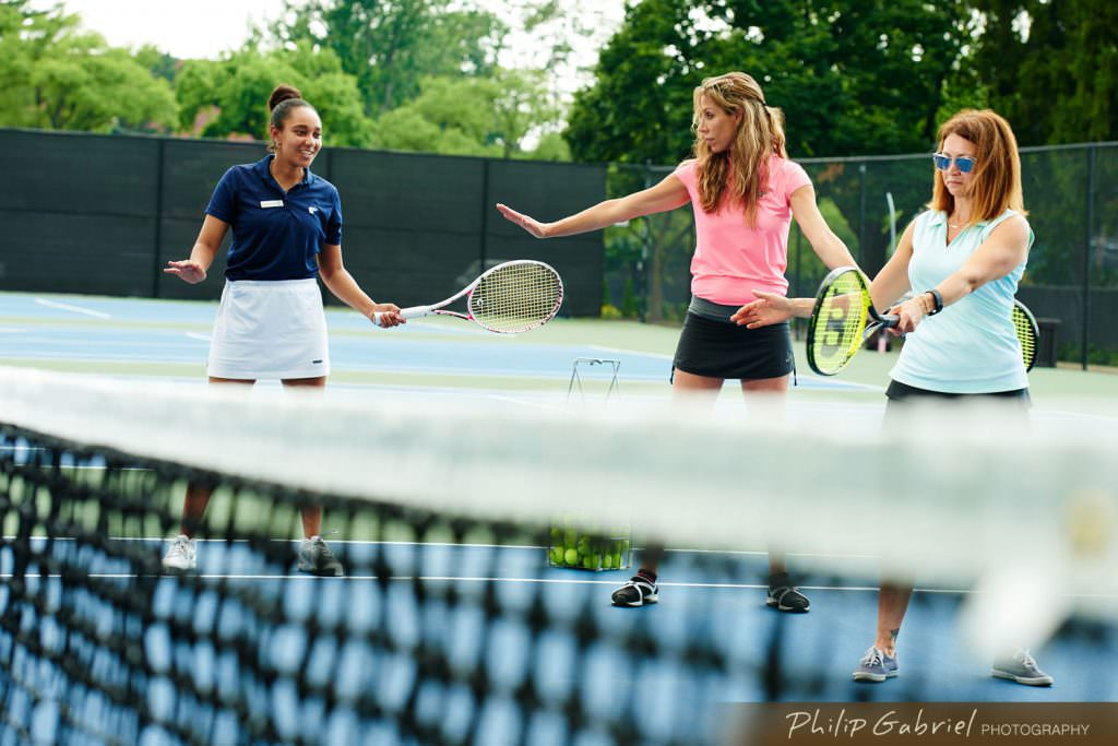 Lifestyle Country Club Private Tennis Lessons outdoors Photographed by Philip Gabriel Photography