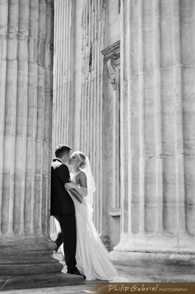 Wedding photography in Old City Philadelphia at First bank
