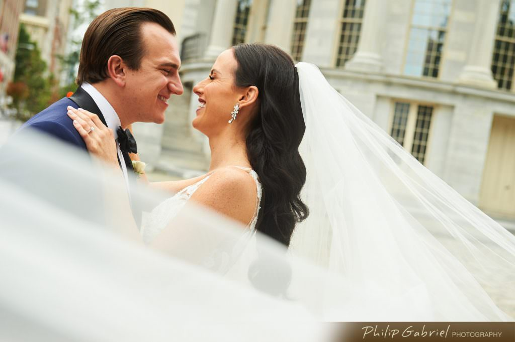 Wedding veil photography in Old City Philadelphia