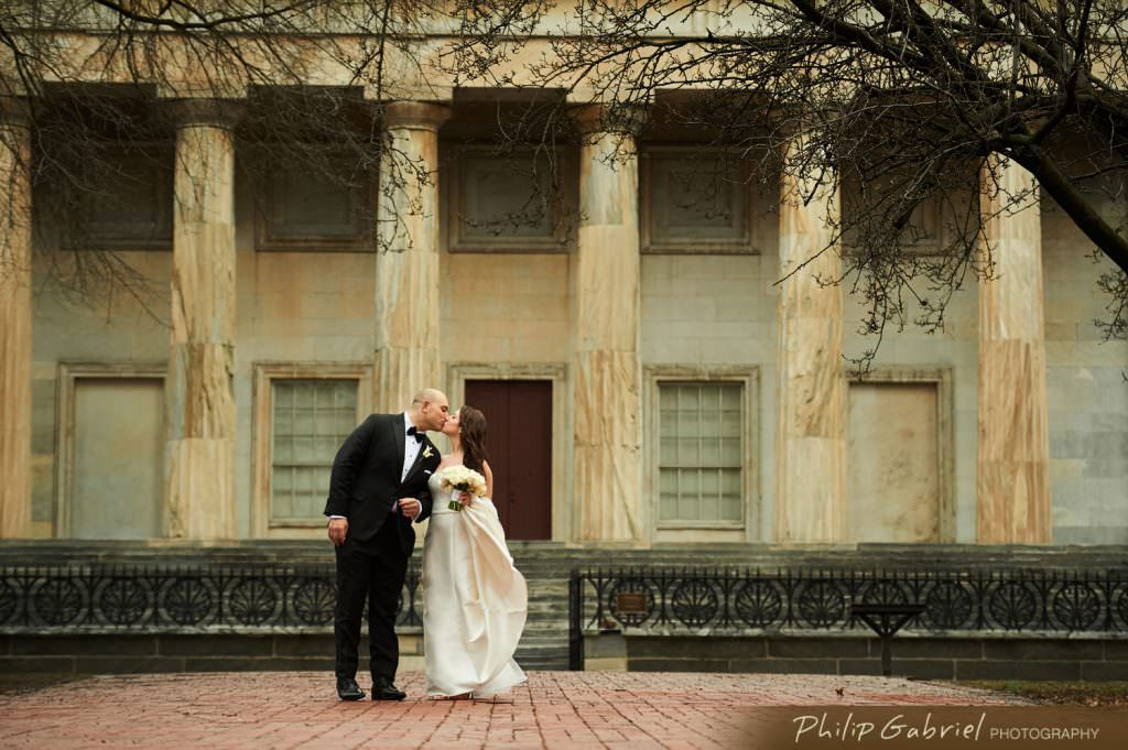 Wedding photos at Second Bank in Old City Philadelphia