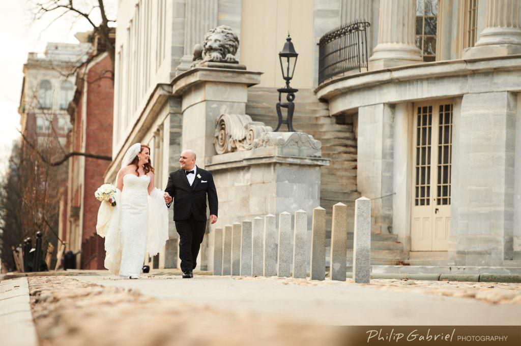Wedding photography at Merchants Exchange in Old City Philadelphia