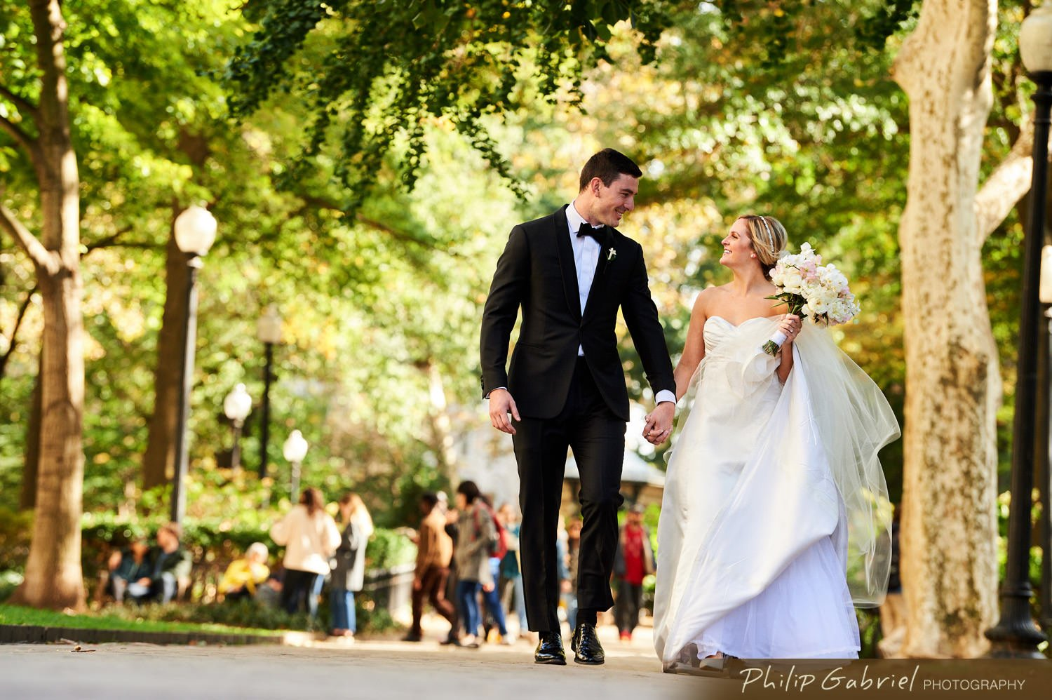Wedding Photography in Rittenhouse Square Park